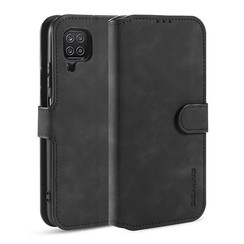 CaseMe - Samsung Galaxy A12 Case - Magnetic 2 in 1 Case - Leather Back Cover - Black