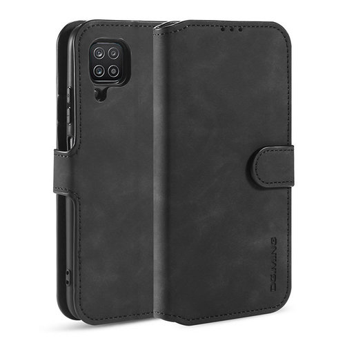 CaseMe CaseMe - Samsung Galaxy A12 Hoesje - Magnetisch 2 in 1 Case - Ming Serie - Leren Back Cover - Zwart