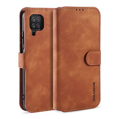 CaseMe - Samsung Galaxy A12 Case - Magnetic 2 in 1 Case - Leather Back Cover - Light Brown