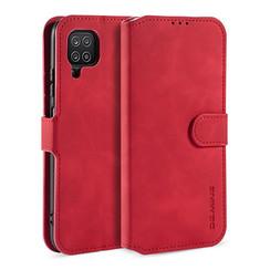 CaseMe - Samsung Galaxy A12 Hoesje - Magnetisch 2 in 1 Case - Ming Serie - Leren Back Cover - Rood
