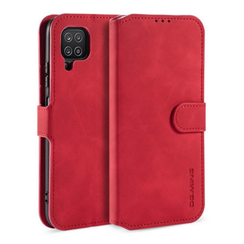 CaseMe CaseMe - Samsung Galaxy A12 Hoesje - Magnetisch 2 in 1 Case - Ming Serie - Leren Back Cover - Rood