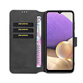 CaseMe CaseMe - Samsung Galaxy A32 5G  Hoesje - Magnetisch 2 in 1 Case - Ming Serie - Leren Back Cover - Zwart