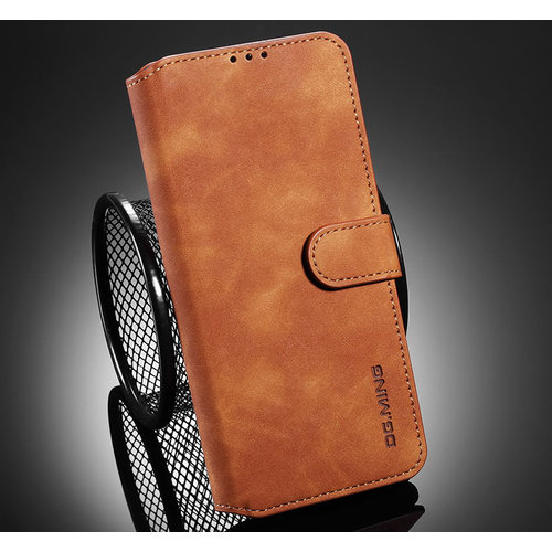 CaseMe CaseMe - Samsung Galaxy A32 5G Hoesje - Magnetisch 2 in 1 Case - Ming Serie - Leren Back Cover - Licht Bruin