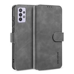 CaseMe - Samsung Galaxy A32 5G  Hoesje - Magnetisch 2 in 1 Case - Ming Serie - Leren Back Cover - Grijs