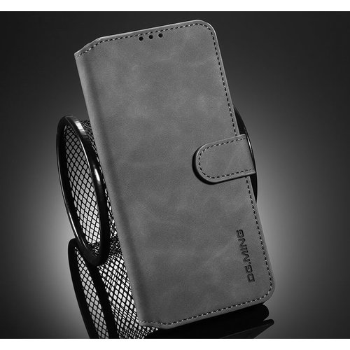CaseMe CaseMe - Samsung Galaxy A32 5G Hoesje - Magnetisch 2 in 1 Case - Ming Serie - Leren Back Cover - Grijs