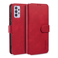CaseMe - Samsung Galaxy A32 5G  Hoesje - Magnetisch 2 in 1 Case - Ming Serie - Leren Back Cover - Rood