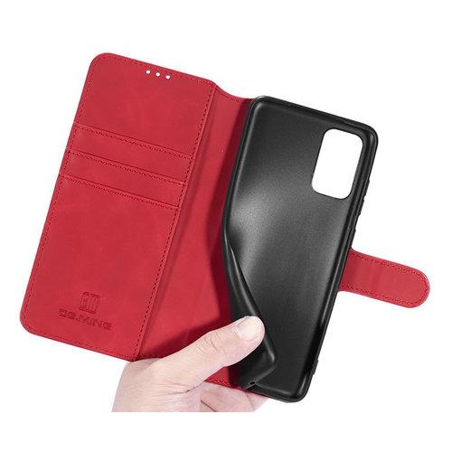 CaseMe CaseMe - Samsung Galaxy A32 5G  Hoesje - Magnetisch 2 in 1 Case - Ming Serie - Leren Back Cover - Rood