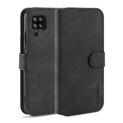 CaseMe - Samsung Galaxy A42 Case - Magnetic 2 in 1 Case - Leather Back Cover - Black