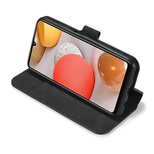 CaseMe CaseMe - Samsung Galaxy A42 Hoesje - Magnetisch 2 in 1 Case - Ming Serie - Leren Back Cover - Zwart