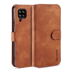 CaseMe - Samsung Galaxy A42 Hoesje - Magnetisch 2 in 1 Case - Ming Serie - Leren Back Cover - Licht Bruin