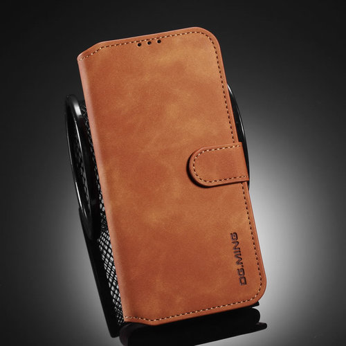 CaseMe CaseMe - Samsung Galaxy A42 Hoesje - Magnetisch 2 in 1 Case - Ming Serie - Leren Back Cover - Licht Bruin