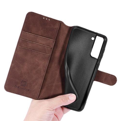 CaseMe CaseMe - Samsung Galaxy A42 Hoesje - Magnetisch 2 in 1 Case - Ming Serie - Leren Back Cover - Donker Bruin