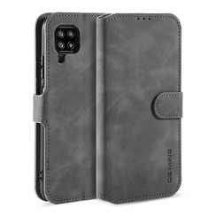 CaseMe - Samsung Galaxy A42 Case - Magnetic 2 in 1 Case - Leather Back Cover - Grey
