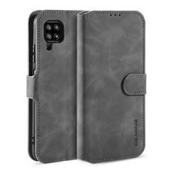 CaseMe - Samsung Galaxy A42 Hoesje - Magnetisch 2 in 1 Case - Ming Serie - Leren Back Cover - Grijs