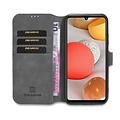 CaseMe CaseMe - Samsung Galaxy A42 Hoesje - Magnetisch 2 in 1 Case - Ming Serie - Leren Back Cover - Grijs