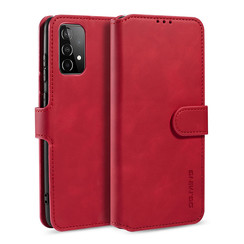 CaseMe - Samsung Galaxy A42 Hoesje - Magnetisch 2 in 1 Case - Ming Serie - Leren Back Cover - Rood