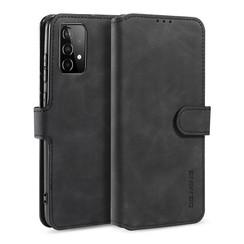CaseMe - Samsung Galaxy A52 Hoesje - Magnetisch 2 in 1 Case - Ming Serie - Leren Back Cover - Zwart