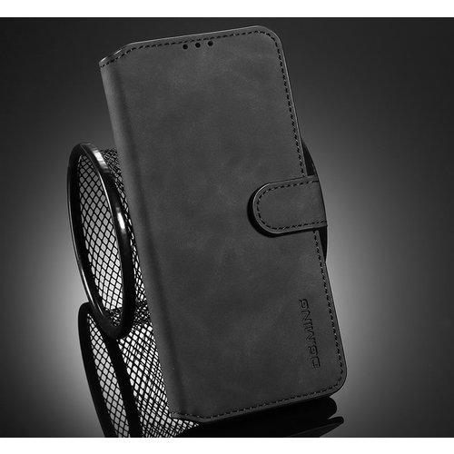 CaseMe CaseMe - Samsung Galaxy A52 Hoesje - Magnetisch 2 in 1 Case - Ming Serie - Leren Back Cover - Zwart