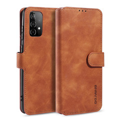 CaseMe - Samsung Galaxy A52 Hoesje - Magnetisch 2 in 1 Case - Ming Serie - Leren Back Cover - Licht Bruin