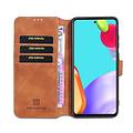 CaseMe CaseMe - Samsung Galaxy A52 Hoesje - Magnetisch 2 in 1 Case - Ming Serie - Leren Back Cover - Licht Bruin