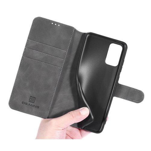 CaseMe CaseMe - Samsung Galaxy A52 Hoesje - Magnetisch 2 in 1 Case - Ming Serie - Leren Back Cover - Grijs