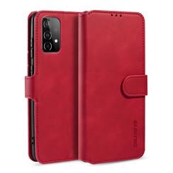 CaseMe - Samsung Galaxy A52 Hoesje - Magnetisch 2 in 1 Case - Ming Serie - Leren Back Cover - Rood