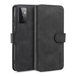 CaseMe - Samsung Galaxy A72 Case - Magnetic 2 in 1 Case - Leather Back Cover - Black