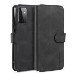 CaseMe - Samsung Galaxy A72 Hoesje - Magnetisch 2 in 1 Case - Ming Serie - Leren Back Cover - Zwart