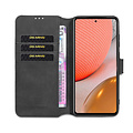 CaseMe CaseMe - Samsung Galaxy A72 Hoesje - Magnetisch 2 in 1 Case - Ming Serie - Leren Back Cover - Zwart
