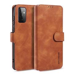 CaseMe - Samsung Galaxy A72 Hoesje - Magnetisch 2 in 1 Case - Ming Serie - Leren Back Cover - Licht Bruin