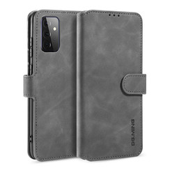 CaseMe - Samsung Galaxy A72 Case - Magnetic 2 in 1 Case - Leather Back Cover - Grey