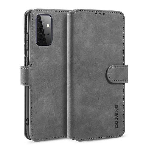 CaseMe CaseMe - Samsung Galaxy A72 Hoesje - Magnetisch 2 in 1 Case - Ming Serie - Leren Back Cover - Grijs