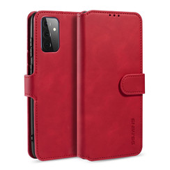 CaseMe - Samsung Galaxy A72 Case - Magnetic 2 in 1 Case - Leather Back Cover - Red