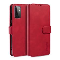 CaseMe - Samsung Galaxy A72 Hoesje - Magnetisch 2 in 1 Case - Ming Serie - Leren Back Cover - Rood
