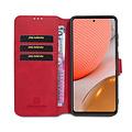CaseMe CaseMe - Samsung Galaxy A72 Hoesje - Magnetisch 2 in 1 Case - Ming Serie - Leren Back Cover - Rood