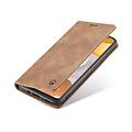 CaseMe CaseMe - Samsung Galaxy A42 5G hoesje - Wallet Book Case - Magneetsluiting - Licht Bruin