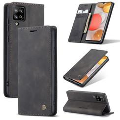 CaseMe - Samsung Galaxy A42 5G hoesje - Wallet Book Case - Magneetsluiting - Zwart