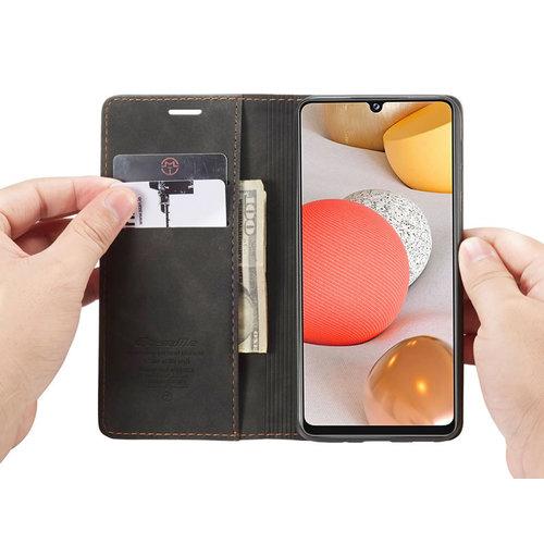 CaseMe CaseMe - Samsung Galaxy A42 5G hoesje - Wallet Book Case - Magneetsluiting - Zwart