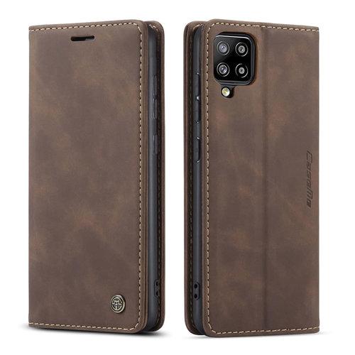 CaseMe CaseMe - Samsung Galaxy A42 5G hoesje - Wallet Book Case - Magneetsluiting - Donker Bruin