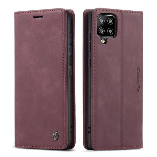 CaseMe CaseMe - Samsung Galaxy A42 5G hoesje - Wallet Book Case - Magneetsluiting - Donker Rood