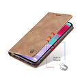 CaseMe CaseMe - Samsung Galaxy A52 5G hoesje - Wallet Book Case - Magneetsluiting - Licht Bruin