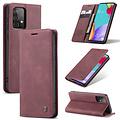 CaseMe CaseMe - Samsung Galaxy A52 5G hoesje - Wallet Book Case - Magneetsluiting - Donker Rood