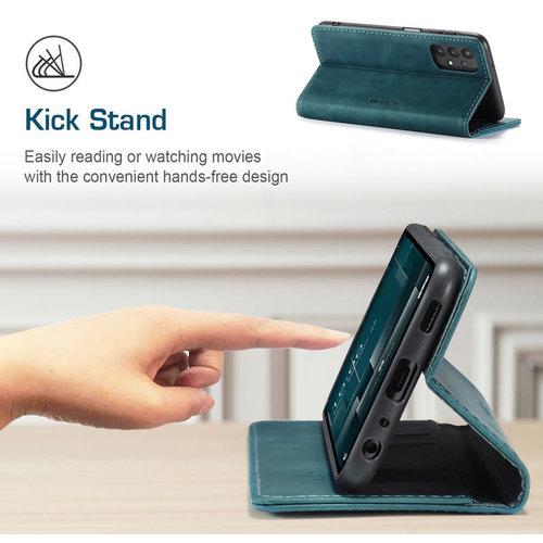 CaseMe CaseMe - Samsung Galaxy A52 5G hoesje - Wallet Book Case - Magneetsluiting - Blauw
