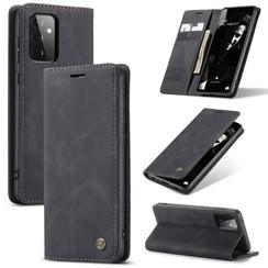 CaseMe - Samsung Galaxy A72 5G hoesje - Wallet Book Case - Magneetsluiting - Zwart