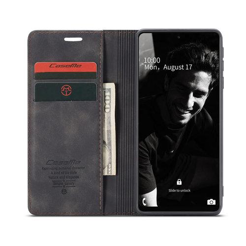 CaseMe CaseMe - Samsung Galaxy A72 5G hoesje - Wallet Book Case - Magneetsluiting - Zwart