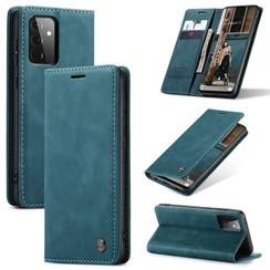 CaseMe - Samsung Galaxy A72 5G hoesje - Wallet Book Case - Magneetsluiting - Blauw