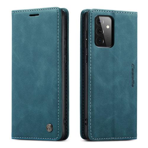 CaseMe CaseMe - Samsung Galaxy A72 5G hoesje - Wallet Book Case - Magneetsluiting - Blauw