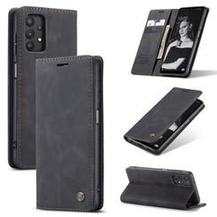 CaseMe - Samsung Galaxy A32 5G hoesje - Wallet Book Case - Magneetsluiting - Zwart