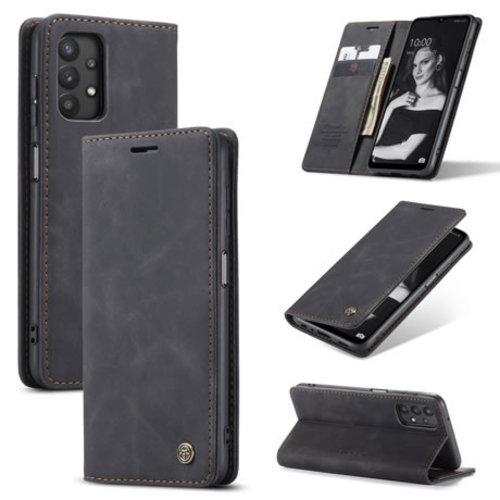 CaseMe CaseMe - Samsung Galaxy A32 5G hoesje - Wallet Book Case - Magneetsluiting - Zwart