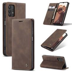 CaseMe - Samsung Galaxy A32 5G hoesje - Wallet Book Case - Magneetsluiting - Donker Bruin